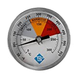 Hemoton Dial Oven Thermometer 0-300℃ In Oven Thermometer Stainless Steel Grill Fry Chef Smoker Thermometer Kitchen Utensils for Cooking Baking