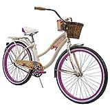 Huffy 26' Panama Jack Beach Cruiser Bike, Cream Vanilla