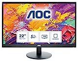 AOC Monitor E2270SWHN - 22' Full HD, 60 Hz, TN, VESA, 1920x1080, 200 cd/m, D-SUB, HDMI 1x1.4