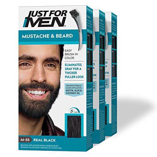 Just for Men Pennello e spazzola per tingere barba e baffi, 1 Set (3 pezzi)
