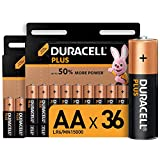 Duracell Plus AA, Pilas Alcalinas , paquete de 36, 1,5 Voltios LR06 MN1500, Exclusivo de Amazon