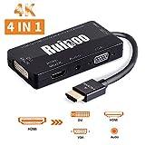 Adaptateur HDMI 4K UHD Convertisseur HDMI Actif Mutiports 4 En 1 HDMI vers HDMI...