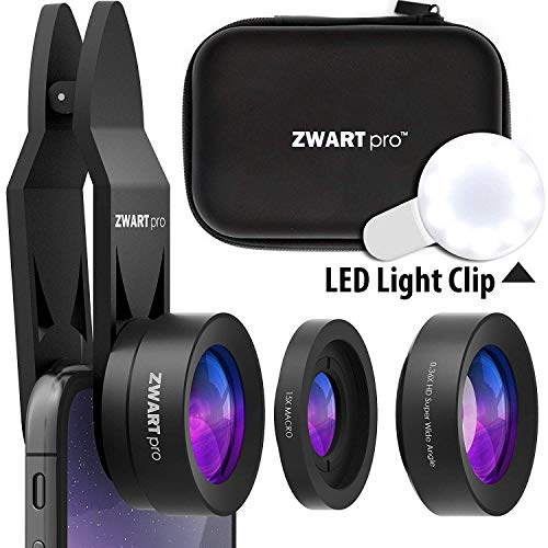 Cell Phone Lens Attachment | 2 in 1 Wide Angle & Macro Camera Lens Kit