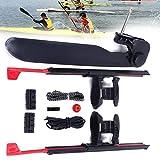 2PCs Adjustable Kayak Foot Braces Pedals & Tail Rudder Direction Steering, Upthehill Kayak Rudder Kit for Kayaking, Canoe, Fishing Boat