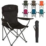 Chaise de camp pliante Highlander - Siège extérieur léger et durable - Parfait pour le camping,...