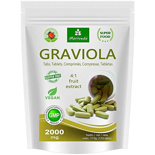 MoriVeda® - Graviola tabletas 120 x 2000mg extracto de frut