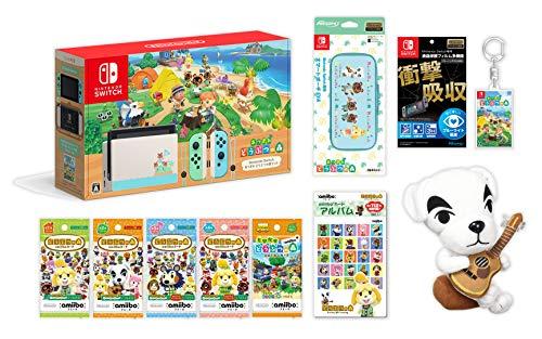 Nintendo Switch あつまれ どうぶつの森セット+どうぶつの森amiiboカード全種各1パック+amiiboカードアルバ...