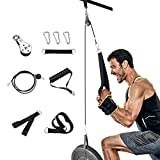Elikliv Fitness LAT and Lift Pulley System, Gym Triceps Pulley Cable Machine Attachments Fitness Equipment for LAT Pulldowns, Bicep Curls, Triceps Extensions Home Gym Workout (2)