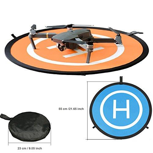 KINGWON 55cm Drone Landing Pad Pieghevole Impermeabile pour DJI Mavic PRO, DJI Mavic Air, DJI Spark,...