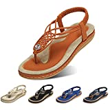gracosy Sandales Plates Femmes, Chaussures Été Confortable à Talons Plats Nu...