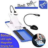 Stedi Pedi Pro - Professional Home Pedicure Kit - Pro Includes Lit Magnifier, Drying Fan, and Task Light - Paint Nails with Ease Using Pedi Assistant Tool - DIY for Women of All Ages