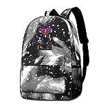 Hdadwy Descendientes 3 Mochila Informal de Moda Mochilas de Viaje Mochila para Hombres y Mujeres Mochila Escolar Gris Mochila Galaxy Sky Starry Bag