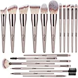 BESTOPE Makeup Brushes 20 PCs Makeup Brush Set Premium Synthetic Contour Concealers Foundation Powder Eye Shadows Makeup Brushes with Champagne Gold Conical Handle