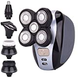 Men's 5-in-1 Electric Shaver & Grooming Kit by AsaVea: Five-Headed...