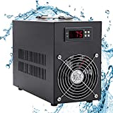 Poafamx 16gal Aquarium Water Chiller Fish Tank Cooling System for Hydroponics Home Axolotl Fish Coral Shrimp 110V with Pump (Chiller, 60L/16Gal)