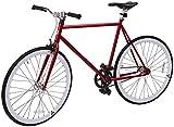 Retrospec Mini Mantra Fixie Bicycle with Sealed Bearing Hubs and Headlamp, Crimson, 53cm/Medium