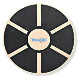Yes4All Wooden Wobble Balance Board - Wobble Board for Physical Therapy, Balance Board for Standing...