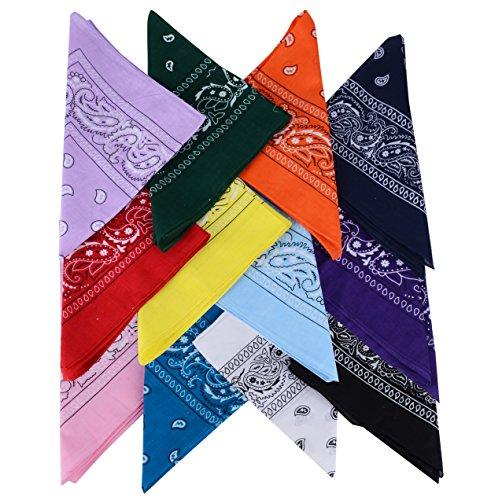 QUMAO Pañuelos Bandanas de Modelo de Paisley para Cuello/Ca