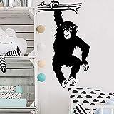 wZUN Calcomanías de Pared de árbol de Mono para jardín de Infantes Pegatinas de Pared para habitación de niños decoración Animales de la Selva Vinilo Dormitorio Mural Autoadhesivo 34X57cm