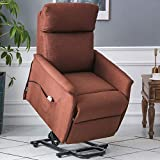 ERGOREAL Lift Chair, Power Lift Recliner with Heat and Massage Functions, Remote-Controlled Power Lift Chair for The Elderly (Brown)