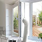 homeasy Universal Window Seal for Portable Air Conditioner and Tumble Dryer, 400cm Air Exchange Guards with Zip Adhesive Fastener