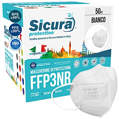 50 Mascherine FFP3 Certificate CE italia Made in Italy BFE ≥99% | PFE ≥99% Mascherina ffp3 SANIFICATA e sigillata...