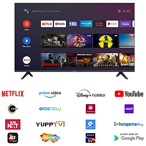 515UMKNy0FS Hisense 139 cm (55 inches) 4K Extremely HD Sensible Licensed Android LED TV 55A71F (Black) (2020 Mannequin) | With Dolby Imaginative and prescient and ATMOS