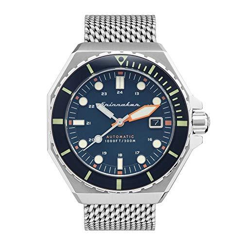 Herren-Armbanduhr – Automatik – Spinnaker – Dumas – 44 mm – Gehäuse – Armband Stahl versilbert – SP-5081-22