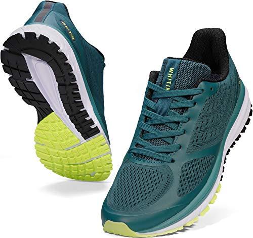 WHITIN Zapatillas de Deporte Mujer Zapatos para Correr Calzado Deportivo Zapatillas de Running Sneaker Transpirable Gimnasio Bambas Ligero Atletismo Verde Negro 39