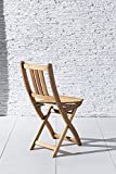 SAM Gartenstuhl Blossom, Akazie-Holz massiv, Holzbank ideal für Balkon Garten Terrasse, zusammenklappbar - 6