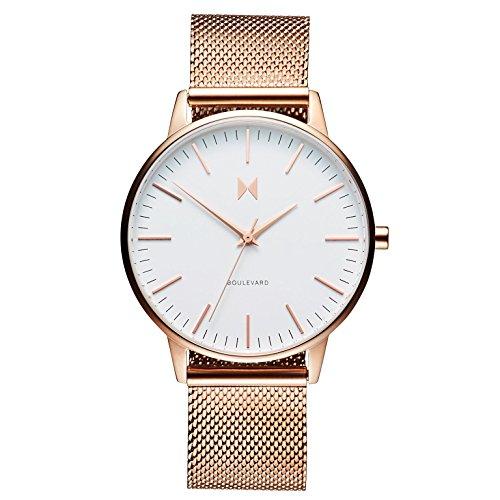 MVMT Damen Analog Quarz Uhr mit Edelstahl Armband D-MB01-RGWM