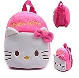 Rose Red Hello Kitty Plush Cartoon Toy Backpack Girl Character School Bag Gift For Kids Mochila Infantil infano donacon ludilo