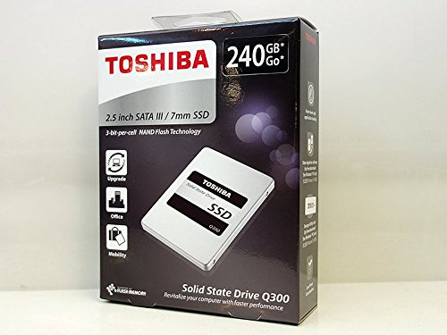 TOSHIBA 東芝 Q300シリーズ SSD 2.5inch 240GB SATA 6Gbps (読込:550MB/s 書込:520MB/s) HDTS824AZSTA 海外パッケージ