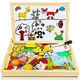 COOLJOY Puzzles en Bois Magnétique,100 + Pièces Animaux...