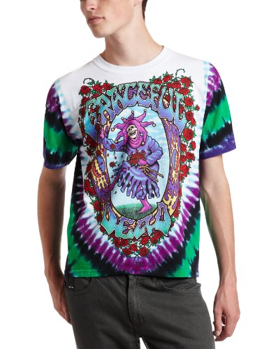 Liquid Blue Men's Grateful Dead Seasons of The Dead Tie Dye T-Shirt - Purple - Medium (Apparel)