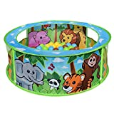 Sunny Days Entertainment Zoo Adventure Ball Pit – Indoor Pop Up Play Tent Toy for Kids and Toddlers   Colorful Balls Included