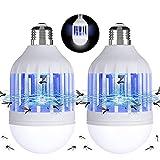 Gvoo Lot de 2 lampes à moustiques LED 2 en 1, E27 avec lumière UV -...