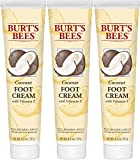 Burt's Bees Coconut Oil Foot Cream, 4.34 Oz - Pack of 3 (Package May Vary)