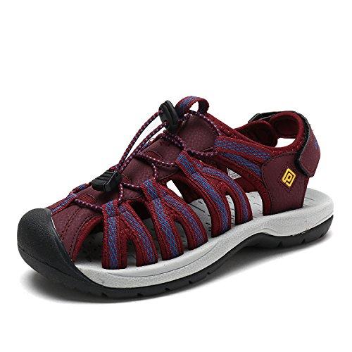DREAM PAIRS Women's 160912-W-New Fuchsia Adventurous Summer Outdoor Sandals Size 9.5 M US