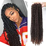 VETYES Passion Twist Hair 6 Packs Water Wave Crochet Braids for Passion Twist Hair Synthetic Crochet Braiding Hair Goddess Locs Long Bohemian Locs Hair(18Inch and 24Inch,6 Packs) (24 Inch, T1B/30)