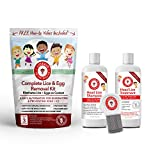 Natural Head Lice Removal Kit - Pesticide Free and FDA Compliant - Everything You Need to Eradicate Lice and Their Eggs - 100% Safe for Kids and The Whole Family - Lice Free in 3 Easy Steps