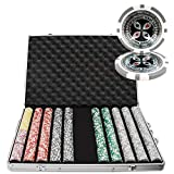 Brybelly 1,000 Ct Ultimate Pro Set - 14g Clay Composite Chips with Aluminum Case, Playing Cards, Dealer Button