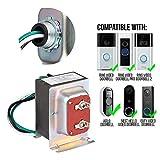 Wasserstein 16V 30VA Doorbell Transformer - Power Supply Compatible with Ring Video Doorbell 1/Doorbell 2/Doorbell Pro, Nest Hello Doorbell, eufy Security Doorbell, and Arlo Doorbell