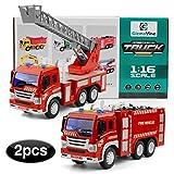 GizmoVine Jouets Camion de Pompiers avec Echelle pour Enfants 3...