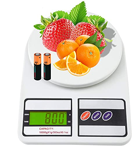 Black Olive Electronic Kitchen Digital Weighing Scale, Multipurpose (White, 10 Kg)