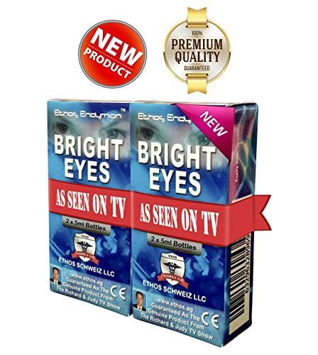 Ethos Bright Eyes™ Carnosine NAC Eye Drops - 2-Pack of 4 x 5ml Bottles - NAC Carnosine Eye Drops - NAC n Acetyl carnosine Eye Drops