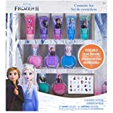 Townley Girl Disney Frozen 2 Super Sparkly Cosmetic Set with Lip Gloss, Nail Polish and Nail Stickers - 11 Pack