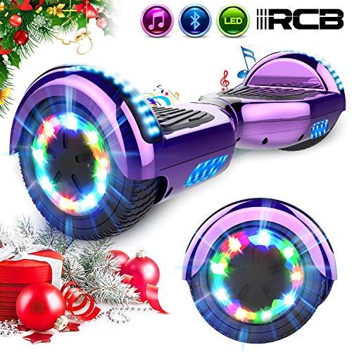 RCB Hoverboard Scooter Elettrico 6.5 inch Auto-bilanciato con luci sulle Ruote Bluetooth per Adulti...