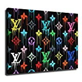 FINDEMO Louis Vuitton Paint Drip Canvas Art Poster and Wall Art Picture Print Modern Family Bedroom...