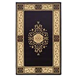 SUPERIOR Elegant Medallion Collection 5X8 Area Rug, Coffee